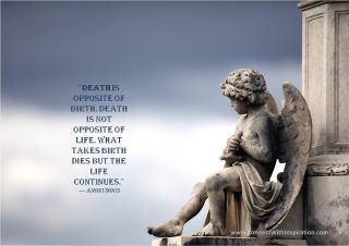 Quotes About Death | Death Quote, Death Is Not Opposite Of Life, Death  Angel Image