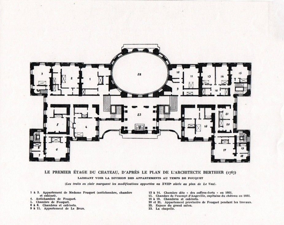Court D Honneur Kastely Vaux Le Vicomte Louis Le Van