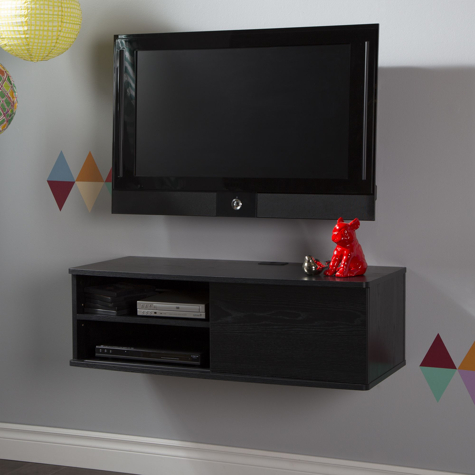 South Shore Agora 38 Wide Wall Mounted Media Console Multiple
