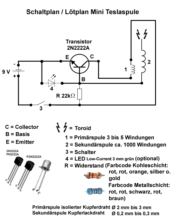 Bildergebnis für mini teslaspule schaltplan | electronik | Pinterest ...