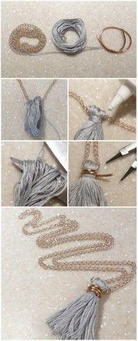 Bisuteria_Ipsa图片专辑-堆糖网- tassel necklace tutorial