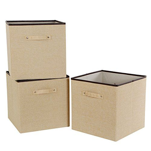 Lifewit Foldable Cube Storage Bins Polyester Cloth Stora Https Www Amazon Com Dp B01naidc3u Re Fabric Storage Bins Fabric Storage Cubes Cube Storage Bins