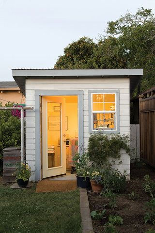 See How A Writer Turned A Backyard Shed Into A Home Office Retreat.