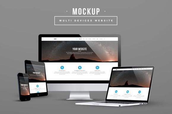 Multi Devices Website Mockup by Maulana Creative on Creative ...