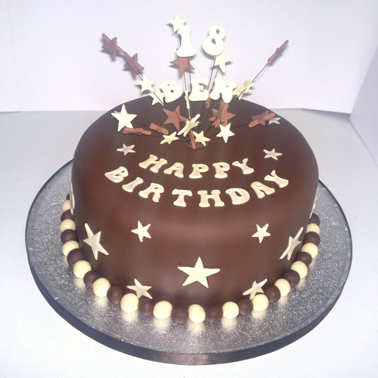 Men Birthday Cake Ideas With Star And Number Topper