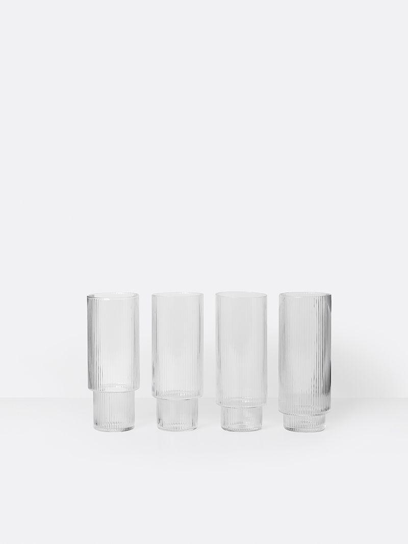 Ripple Long Drink Glasses By Ferm Living Glasses Drinking Blown Glasses Drink Glasses Set