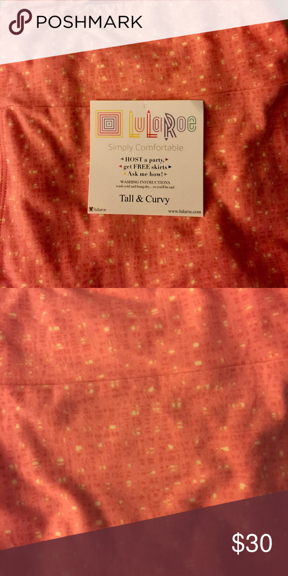 1f12c7822 *final price reduction* BNWT LulaRoe TC Leggings Pink with beige squares.  Never worn. Tags are removed from consultant to prevent snagging.