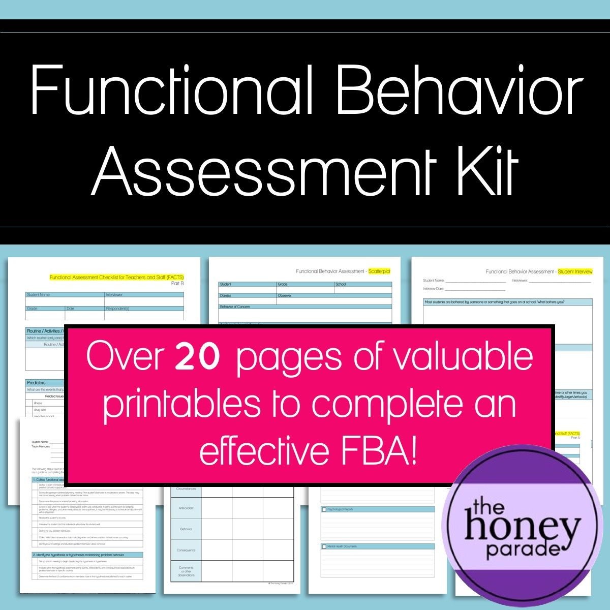 Functional Behavior Assessment Kit
