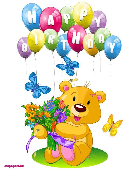 Happy Birthday Animated Gif Ecard Geburtstag Grusse Geburtstag