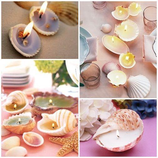 Deko selber machen anleitung  Kerzen Tischdeko Maritimo Deko | Hochzeit | Pinterest | Kerzen ...