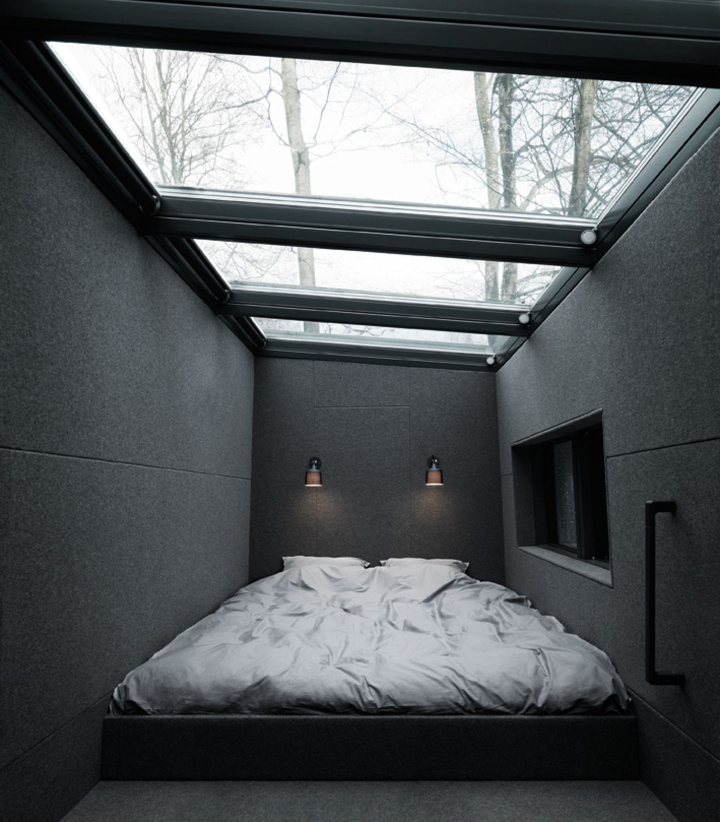 Loft above bedroom  Prefab Home by  Sleeping loft Prefab and Remote