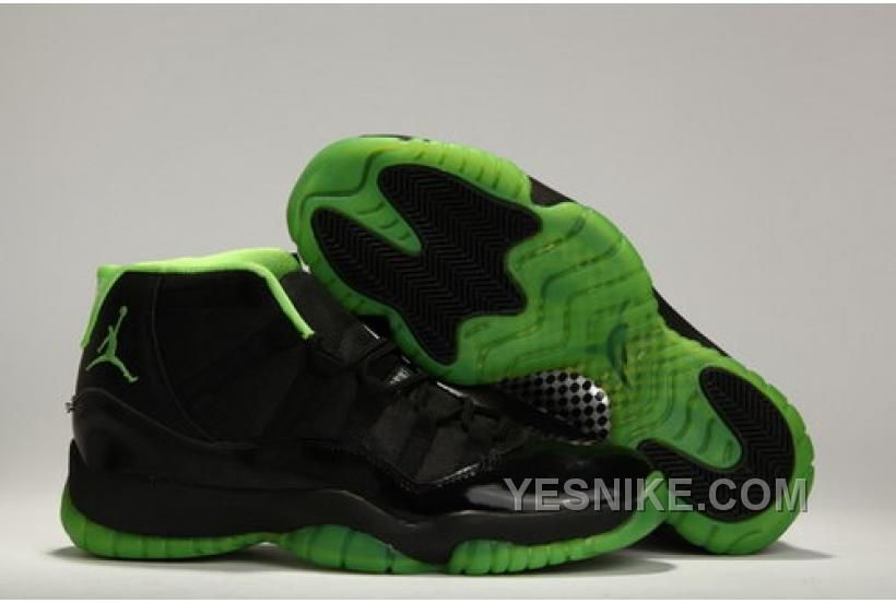 91b3467be84f COUPON FOR NIKE AIR JORDAN 11 XI MENS SHOES ON SALE BLACK GREEN MSJCH Only   97.00