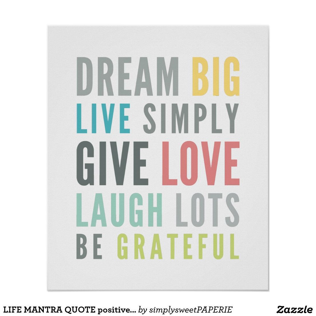 Life Quotes Posters Life Mantra Quote Positive Typography Pastel Color Poster  Quotes