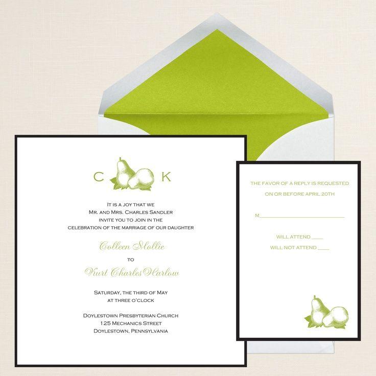 Pear Wedding Invitations