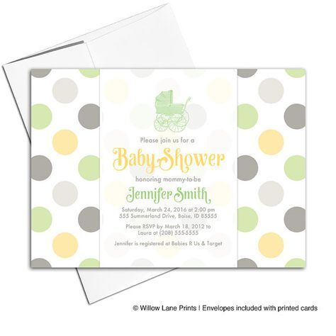 Gender neutral baby shower invites green yellow gray baby shower gender neutral baby shower invites green yellow gray baby shower invitation stroller filmwisefo