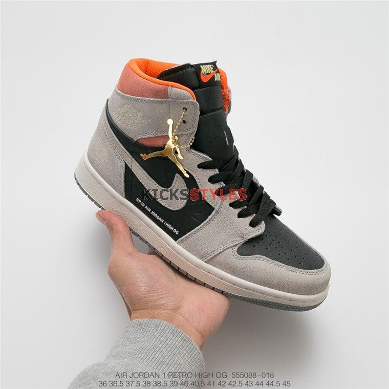 "a119be071e9 Air Jordan 1 Retro High OG ""Neutral Grey"" Hyper Crimson 555088-018 ..."