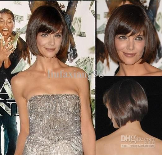 Katie Holmes Bob Hair Style Short Straight About 8inches Shining