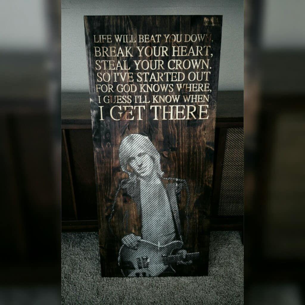 Tom Petty Wood Carved Lyrics Wall Art Cool Tom Petty Lyrics Tom