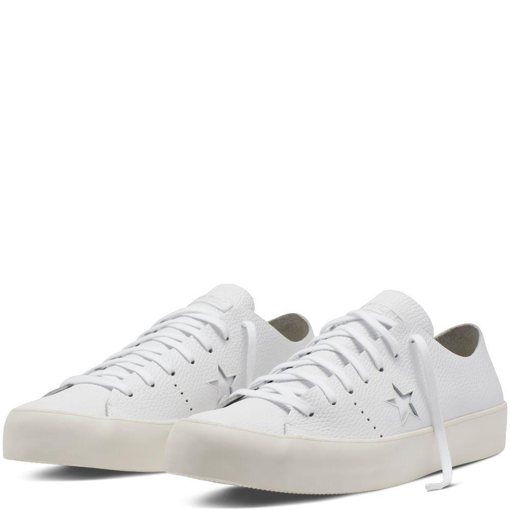 CONS One Star Prime Leather Blanc white/white/egret