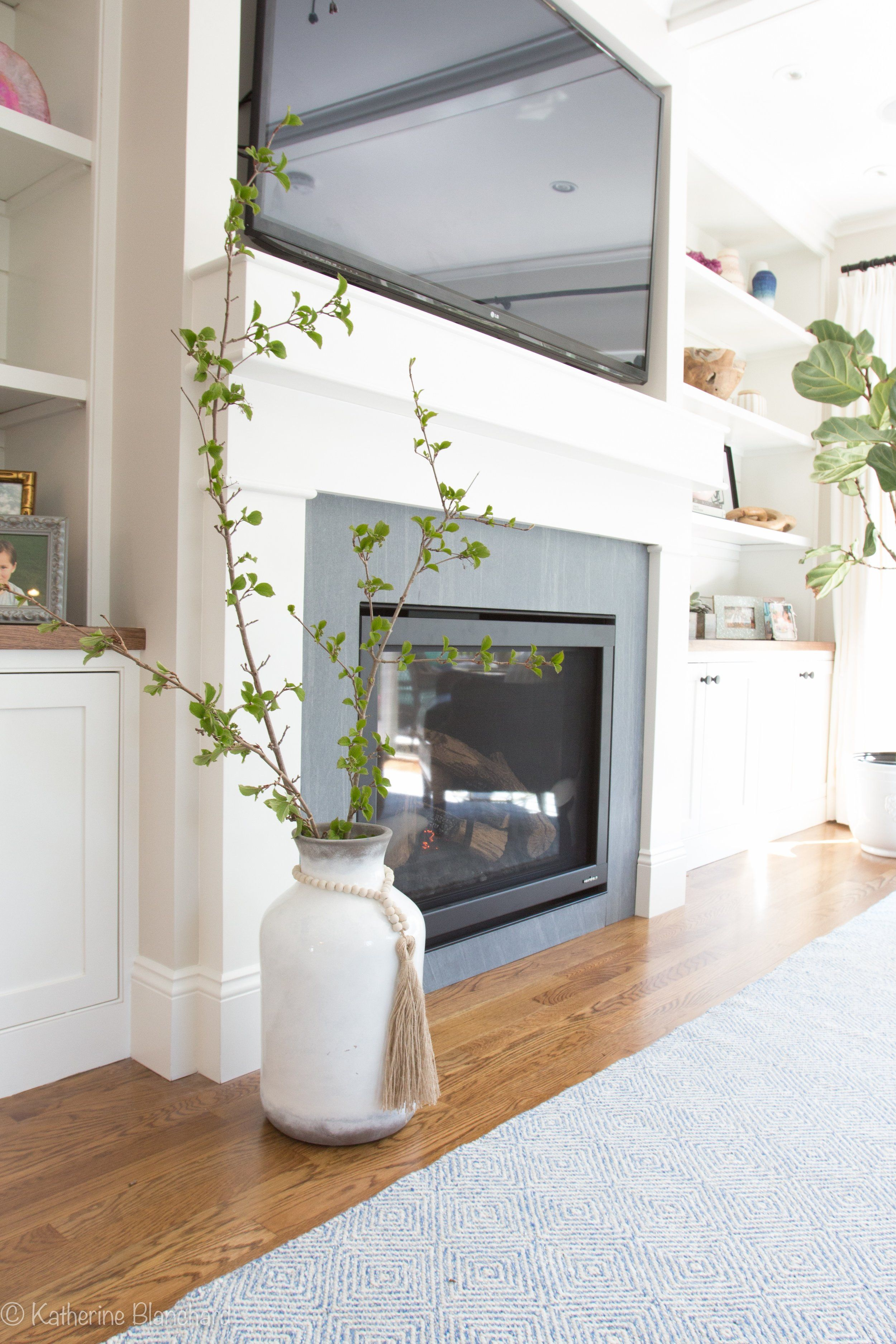 Richard and lisaus builtin bookcases and fireplace decor