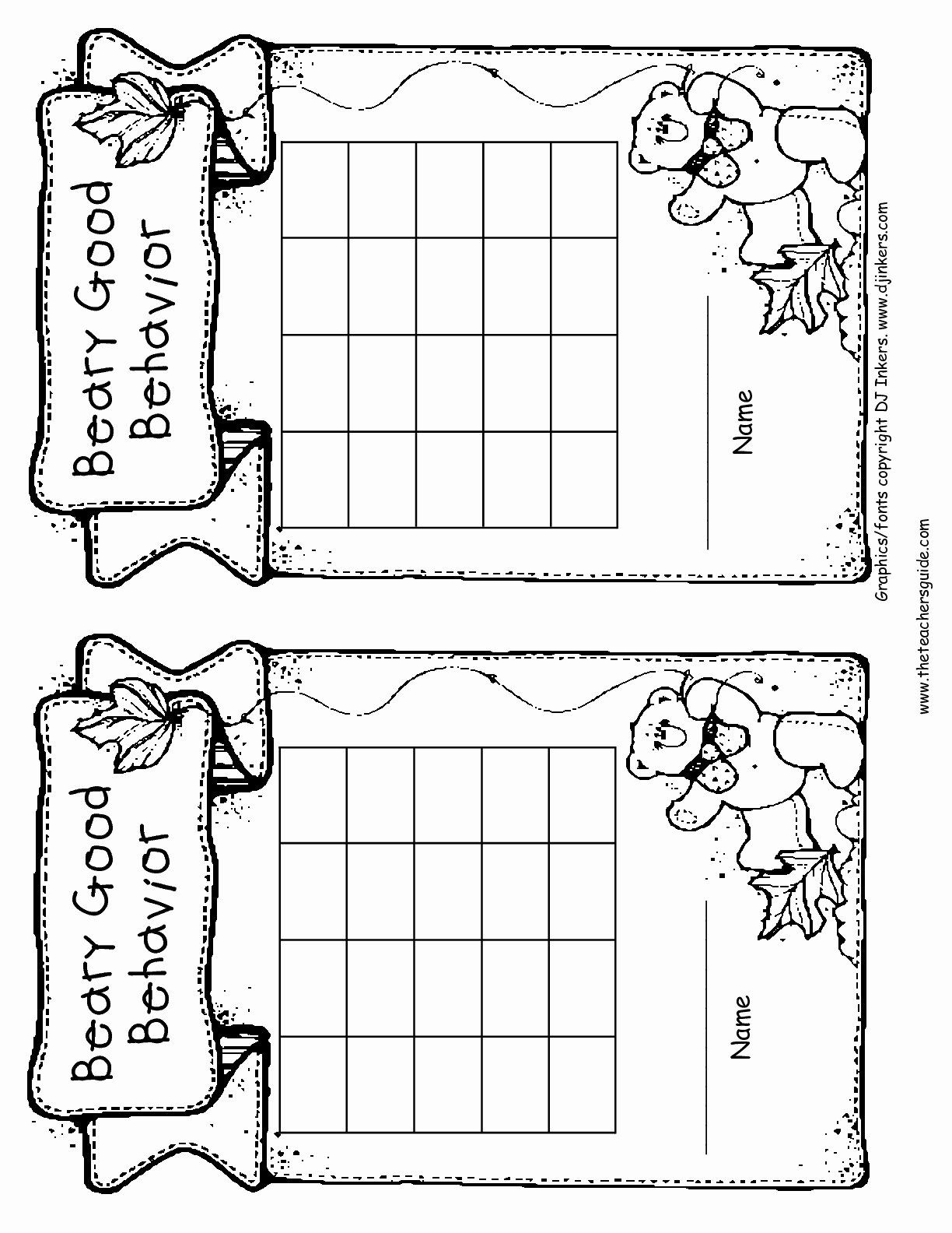 30 Classroom Behavior Chart Template In