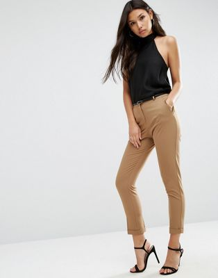 ASOS - The Slim - Pantalon cigarette ajusté avec ceinture   Wishlist ... e1fac4a40e6c