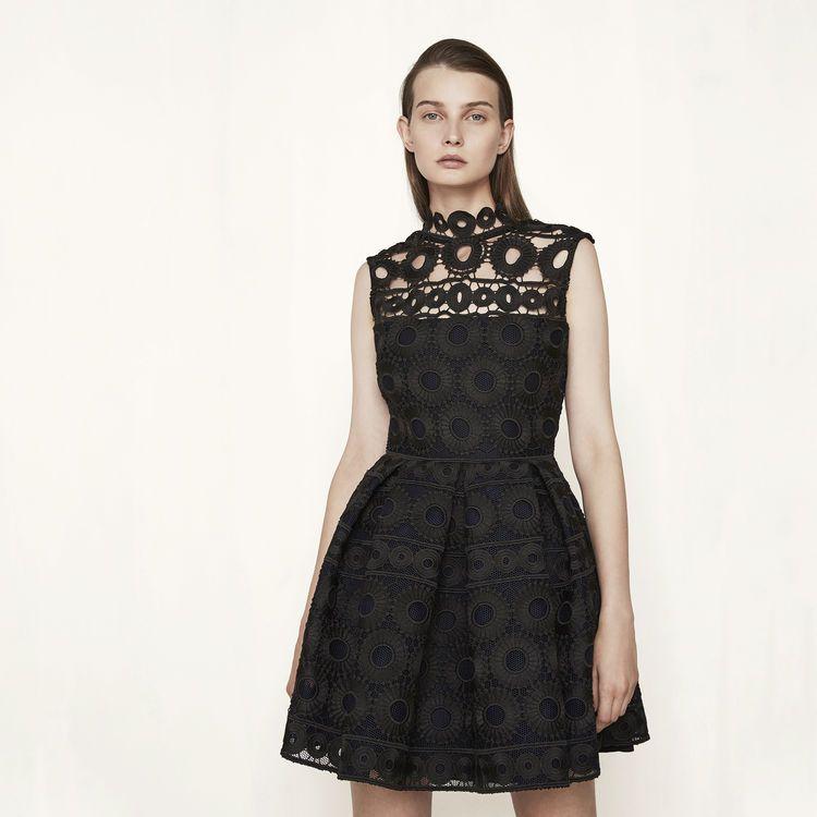 robe noire bijoux maje 2017