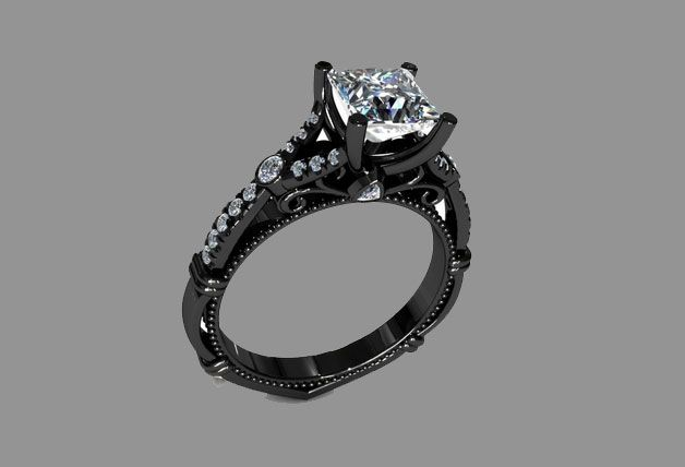 black gold engagement rings for women what women want today - Black Gold Wedding Rings