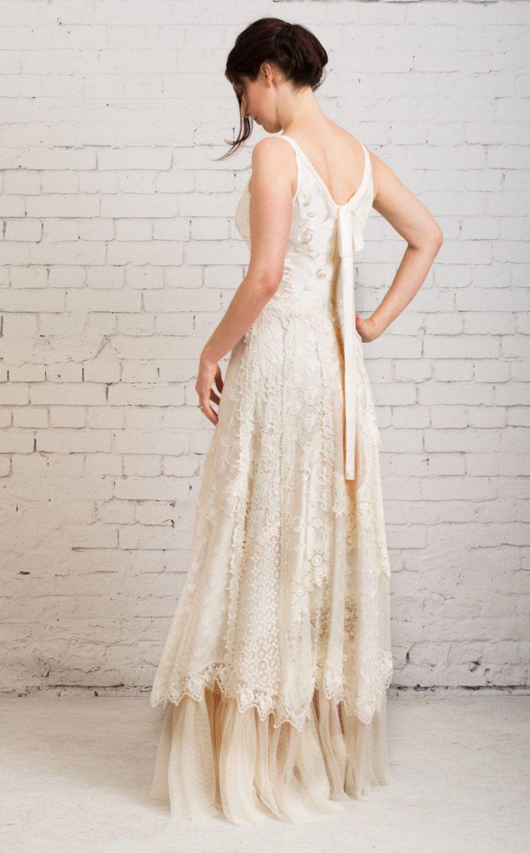 Boho wedding dress, casual wedding dress, simple wedding