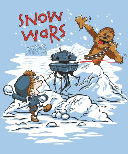 """Snow Wars"" from Qwertee"