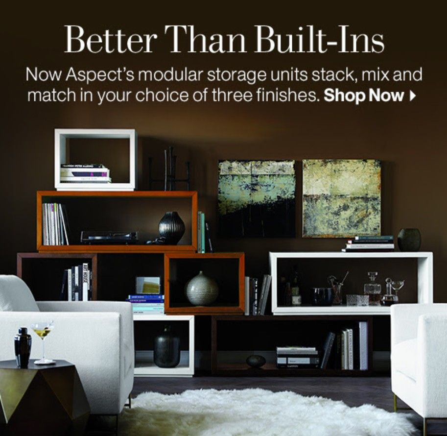 Crate barrell aspect modular storage