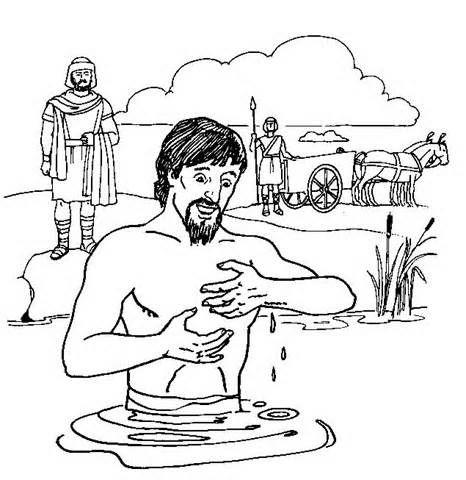 Naaman Coloring Page | Teach Kids About Christ | Sabbath ...