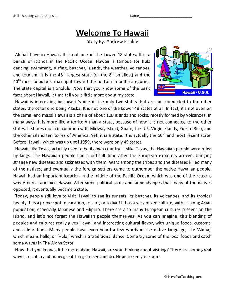Großzügig Hawaii Arbeitsblatt Zeitgenössisch - Arbeitsblätter für ...