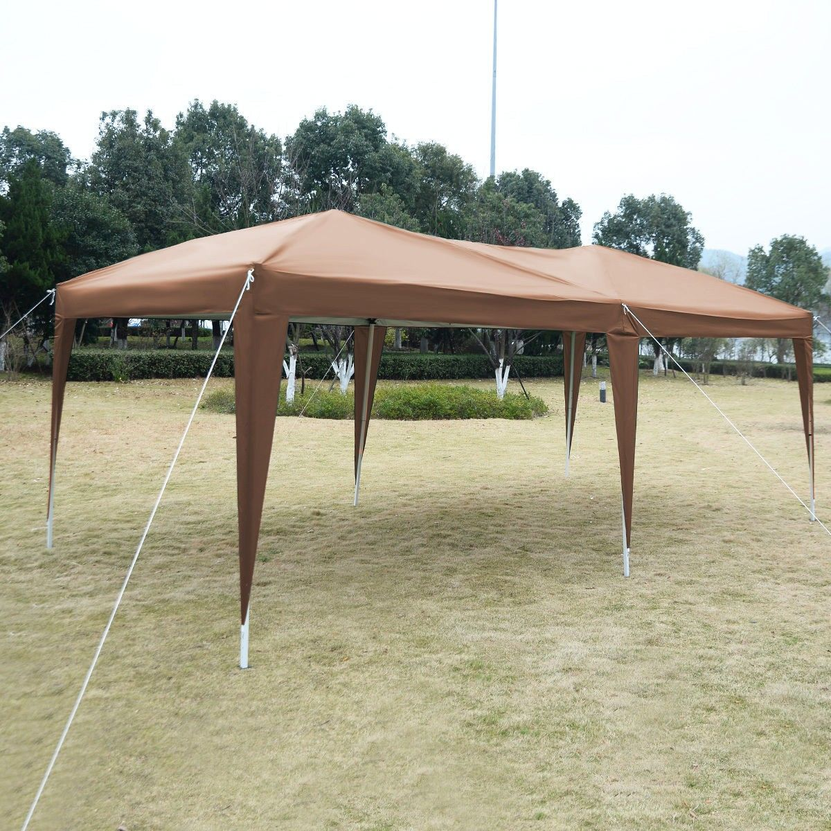10 X 20 Ez Pop Up Folding Wedding Party Tent Cross Bar Gazebo Outdoor Pergola Garden Storage Shed