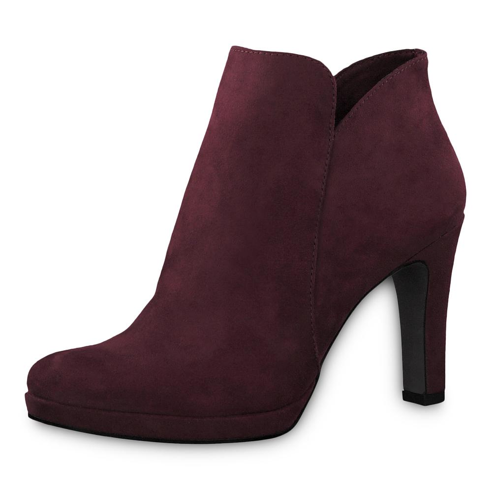 Tamaris Damen Stiefeletten Schuhe 25316 Boots Vine Weinrot Modefreund Shop Tamaris Schuh Schuhe Damen Frauen Winter Mode Fashion