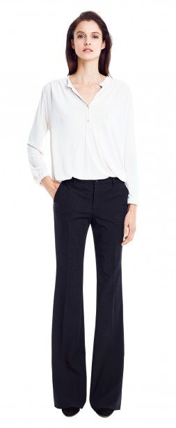 c95457fa0d9a Filippa K Sheer Panel Blouse & Kim slacks. Perfect bootcut ...
