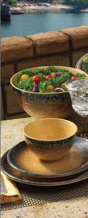 Merritt Tuscan Sun Melamine Dinnerware Collection & Merritt Tuscan Sun Melamine Dinnerware Collection | teRRacoTTa ...