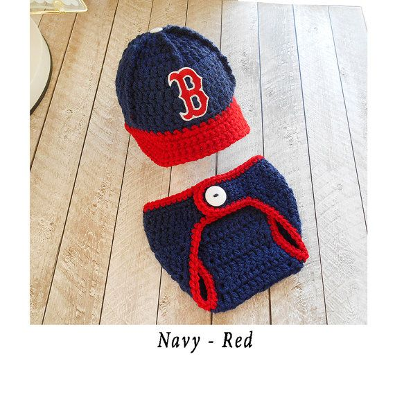 Baby Boy Outfit Boston Red Sox baby boy clothes knitted hats ... 40a36390f80