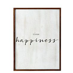 Choose Happiness Wall Plaque