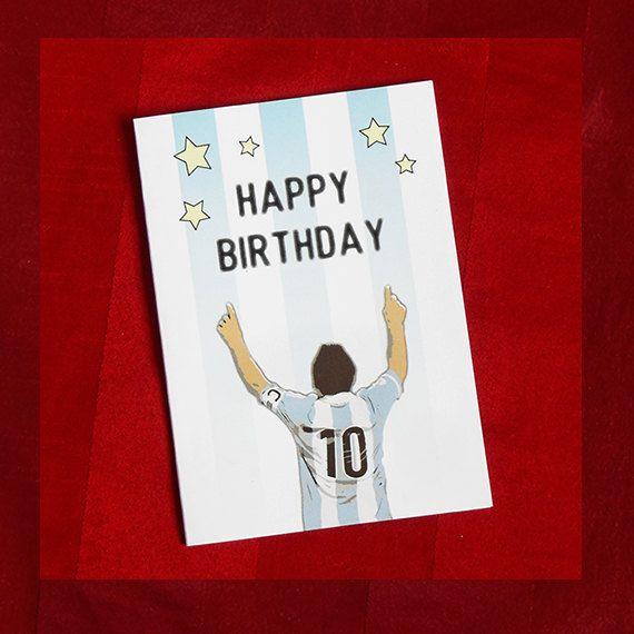 0ef37b3af1dd11 Messi Birthday Greetings Card – Argentina 2018 + Inc. an envelope in ...