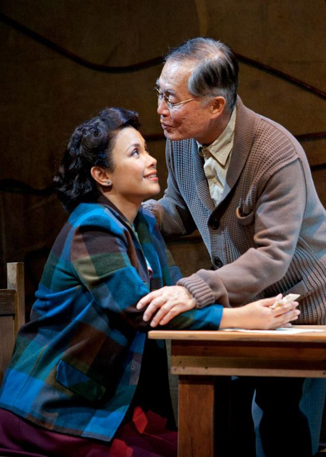 Lea Salonga with George Takei. Image from Allegiance - A New Musical