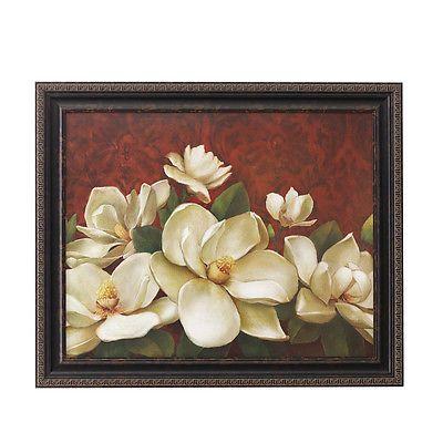 Home Interiors Magnificent Magnolia Blossoms Picture Magnolia Paint Floral Wall Art Art