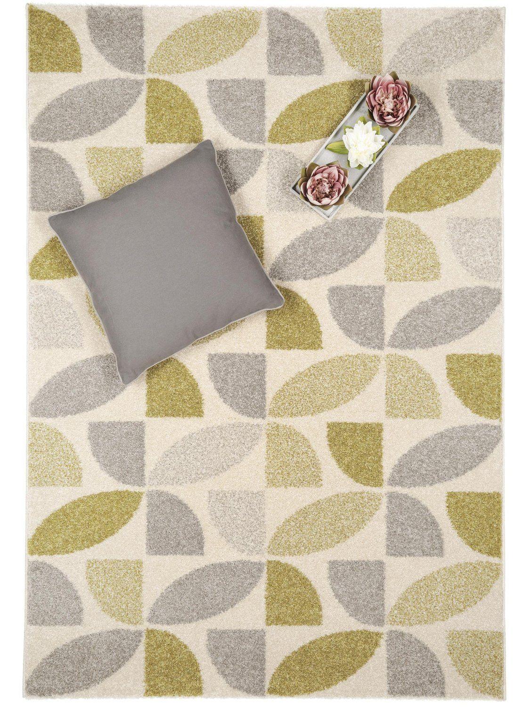 Superb benuta Teppiche Moderner Designer Teppich Pastel Mosaik Gr n x cm Pr fsiegel schadstofffrei Flormaterial