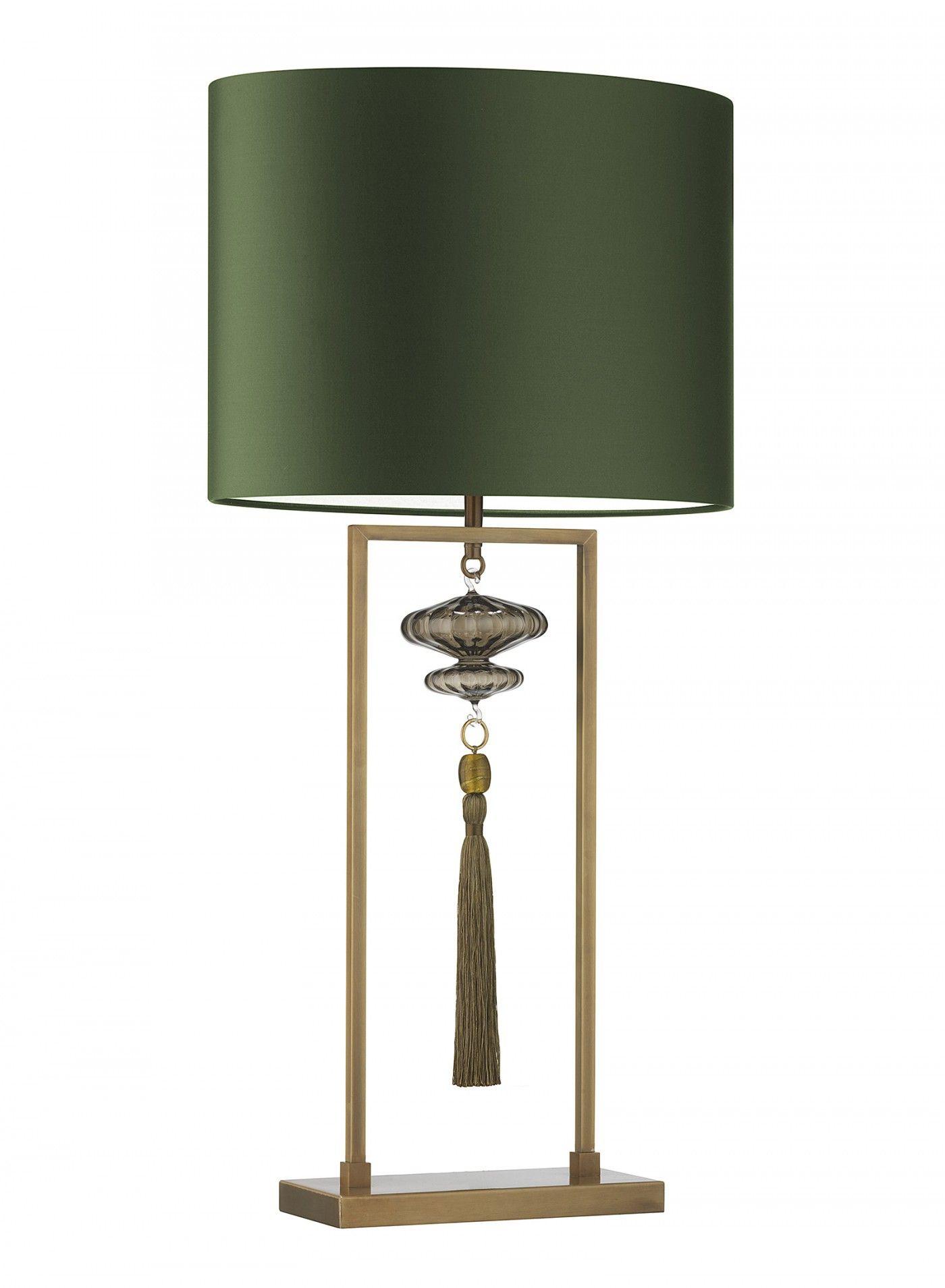 Constance Large Antique Brass Table Lamp Heathfield Co Green