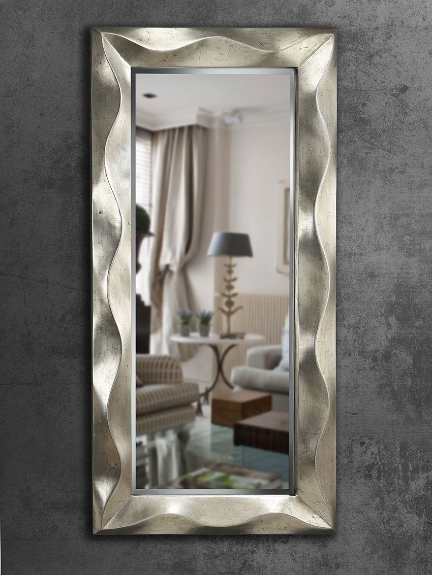 Espejos modernos mas de 250 espejo vestidor ondas for Espejos de vestidor
