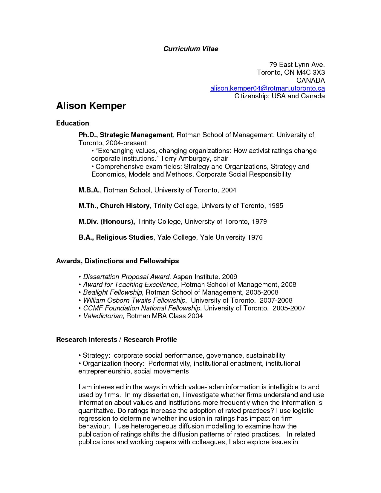 U Of T 4 Resume Examples Pinterest Sample Resume Resume