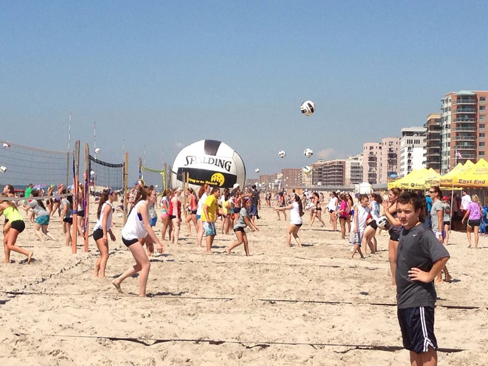 Long Beach Ny Banners Would Be Up On Weekends For Any Eevb Tournaments Long Beach Beach Us Beaches