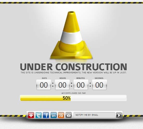 50 best coming soon and under construction templates graphic