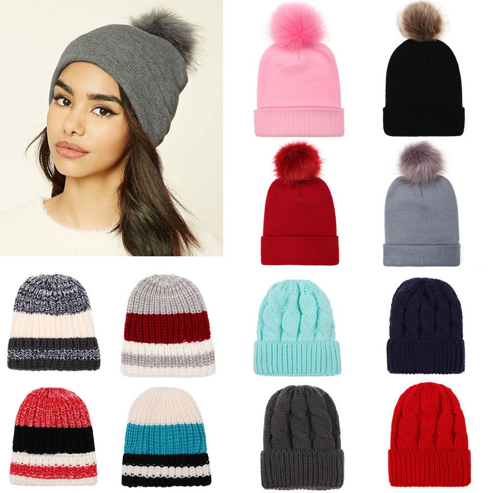 d0b677fad0c NEW Womens Mens Knit Baggy Beanie Hat Winter Warm Oversized Ski Cap  fashion   clothing  shoes  accessories  womensaccessories  hats  ad (ebay link)