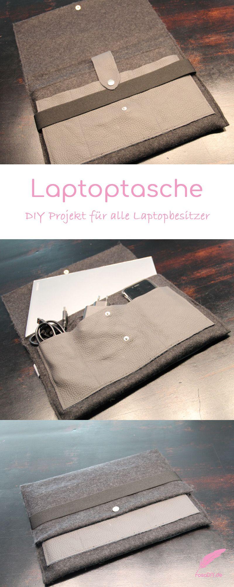 Photo of Laptoptasche aus Leder & Filz – rosaDIY – Schöne Dinge machen das Leben schöner!